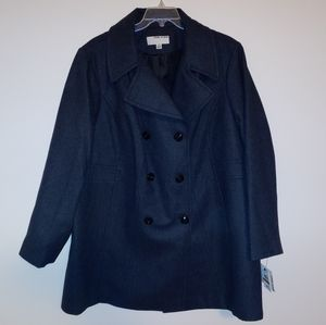 Anne Klein winter button-up trench coat